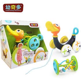 国内现货 美国yookidoo幼奇多 音乐拉伸卡通鸭婴幼学步玩具爬行训练玩具