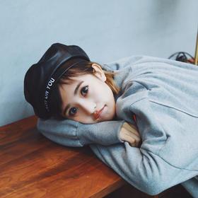 【贝雷帽】*新款女士帽子秋冬款 韩版PU皮质平顶时装帽韩版贝雷帽子报童帽潮 | 基础商品