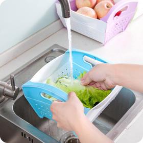【优质PP材质 折叠方便易收纳】沥水可折叠式果蔬篮 结实耐用 节省空间