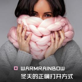 100%澳洲美丽诺羊毛 地表时尚超暖圣诞礼围巾