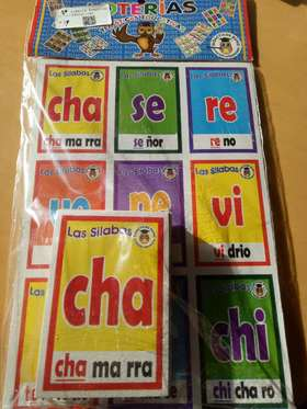 Loterías temáticas educativas (sílabas)