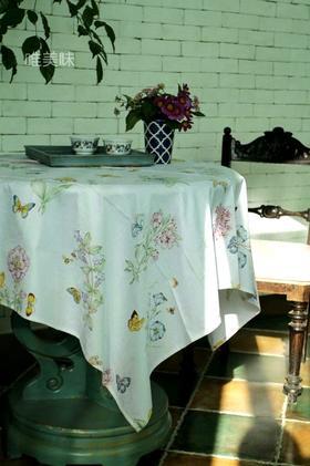 外贸 优质精梳棉 埃及棉 桌布 家宴轰趴下午茶 满包邮 蝶恋花