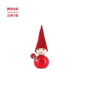 芬兰【Aarikka】圣诞系列  玩偶松木摆件小矮人 Tonttu 小红人