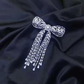 狄安娜之光925银饰镶锆石胸针