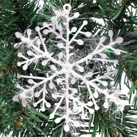 【装饰】*圣诞树雪花挂件 11cm塑料雪花片 圣诞聚会派对布置 | 基础商品