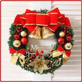 【圣诞装饰品】*圣诞花环30cm40cm50cm60cm 圣诞节装饰圣诞门挂花环橱窗道具 | 基础商品