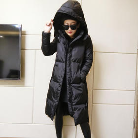 棉服女韩版宽松bf中长款加棉加厚2017冬季新款连带帽拉链棉衣外套