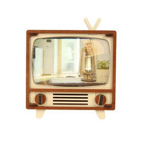 韩国原装进口WOODSUM木质拼装复古电视丨胶卷相机丨古典式闹钟   韩国原装进口|天然原木|不用黏贴剂可拍照|可当钟表使用