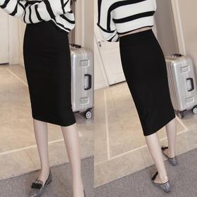 【天天特价】新款大码女装弹力高腰显瘦一步包臀裙OL半身裙中长款
