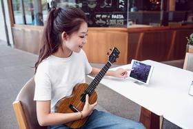 智能尤克里里smart U1K   23寸 + 亲子音乐启蒙课程 学生成人儿童 小吉他