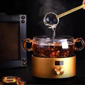 玻璃勺煮茶神器老白茶普洱黑茶煮茶锅耐热全玻璃电陶炉煮玻璃茶壶