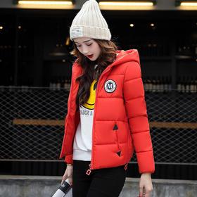 2017冬季韩版棉衣 女短款时尚 宽松大码羽绒棉服连帽小棉袄学生潮