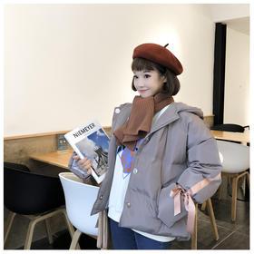 2017年冬季女装新款流行款棉衣韩版学生宽松可爱日系棉袄学院风检