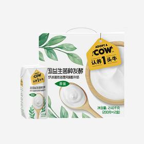 认养一头牛 常温酸牛奶 200克 12盒*2箱