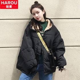 2017新款少女秋冬装短款羽绒棉服中学生韩版BF棉衣外套学院风棉袄
