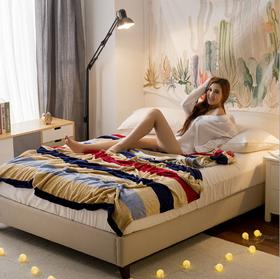 法兰绒双面绒180x200cm床单毛毯保暖系列双人毯子法兰绒毛毯