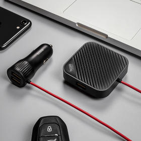 【爱车族】Bcase 车载USB充电一分四 充电器前后排四口快充USB手机通用车充