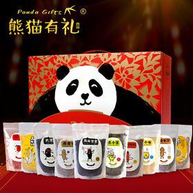 熊猫有礼 有机杂粮礼盒 健康的年味,用心的好礼(10件装)