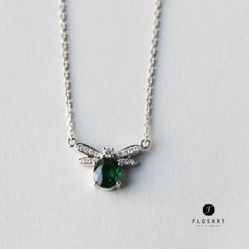 小蜜蜂沙佛莱钻石套链 18k金材质 圣诞新年礼物