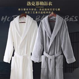 五星级酒店浴袍男女情侣纯棉毛巾料秋冬季加厚浴衣成人全棉