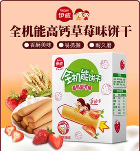 伊威磨牙棒全机能饼干高钙磨牙棒儿童零食红枣草莓荞麦