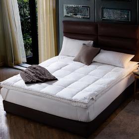 康莱德酒店标准五星级酒店床垫保护垫双层羽绒加厚8cm双人1.8m床褥子保暖