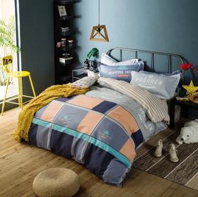 全棉斜纹四件套 1.8m单双人被套床单 纯棉床上用品