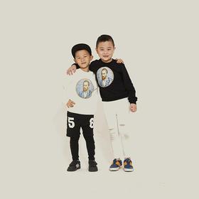 徳玺见萩 《至爱梵高》电影 自画像特别版卫衣  儿童版