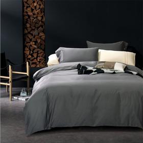 纯棉床上用品四件套素色 60支贡缎长绒棉四件套全棉床单床笠