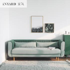 [InYard原创]羽眠三人沙发/北欧客厅小户型设计师咖啡实