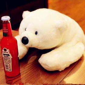 海洋馆北极熊公仔毛绒玩具抱抱趴趴熊 可爱咔咔熊玩偶女生礼物