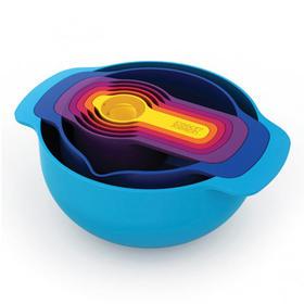 英国joseph joseph创意厨房用品彩虹厨具七件套装 量勺碗盆