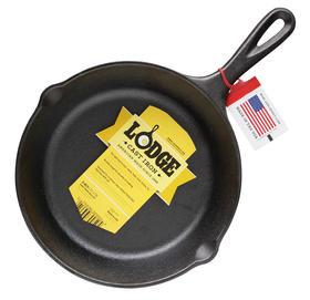 Lodge洛极 美国进口铸铁煎锅 健康无涂层不易粘锅 平底煎锅