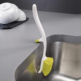 英国JOSEPH JOSEPH创意厨房锅碗碟刷 缝隙清洁刷子长柄刷 灰色