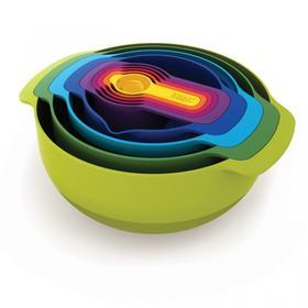 英国joseph joseph彩虹厨具九件套量勺碗盆烘焙厨具套装