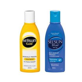 澳洲 Selsun 强力去屑洗发水洗发露去头屑修复止痒控油200ml