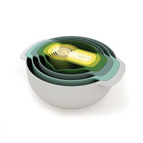 英国 Joseph Joseph彩虹套碗 套装餐具量滤刻度碗料理盆9件套