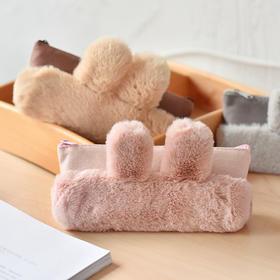超可爱小兔子毛绒笔袋 文具