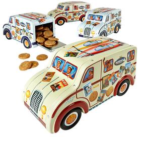 丹麦原装进口杰克布森(Jacobsens)小车盒装巧克力曲奇饼干150g