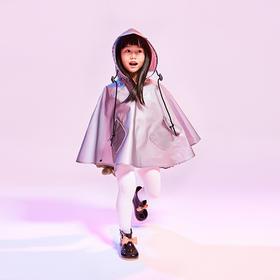 风谜新款二代新款,防风防雨不粘身 时尚斗篷设计暴风衣儿童款