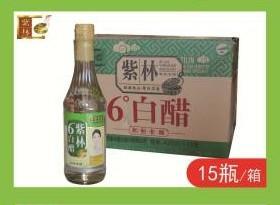A紫林6度白醋420ml*15(一瓶)(一箱15瓶)
