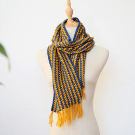 美丽奴混纺羊毛线 简爱双色围巾线编织材料包小辛娜娜编织宝宝毛线材料包手编围巾线棒针线