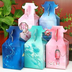飞檐古风苹果盒子包装盒 创意圣诞平安夜礼物盒 中国风喜糖盒纸盒