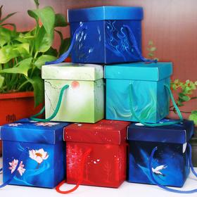 手提古风苹果盒子礼品盒 平安果包装盒中国风 创意圣诞纸盒喜糖盒