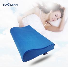 记忆棉枕头慢回弹记忆枕短毛绒弓形枕护颈枕保健枕芯