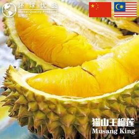 【逛吃党】A+级马来西亚劳勿正宗猫山王榴莲>1.7KG-2.0KG(M中码),-85℃急冻锁鲜