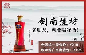 剑南春 剑南烧坊 白酒 52度 10年老窖 500ml