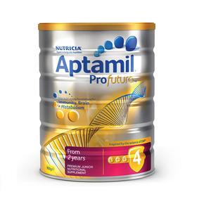 【保税仓】澳洲原装aptamil爱他美白金版婴幼儿4段配方奶粉 2岁以上 900g