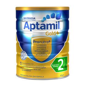 【新西兰直邮】Aptamil 爱他美金装 2段婴儿配方牛奶粉(6罐900g装)