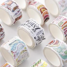 小清新拼贴和纸胶带 文具
